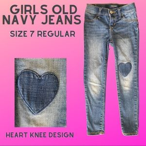 Girls Old Navy Ballerina Jeans size 7R faded blue